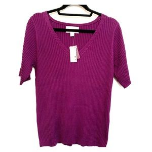 ⭐️3/$25⭐️ Vintage Avenue Purple Sweater Top BNWT